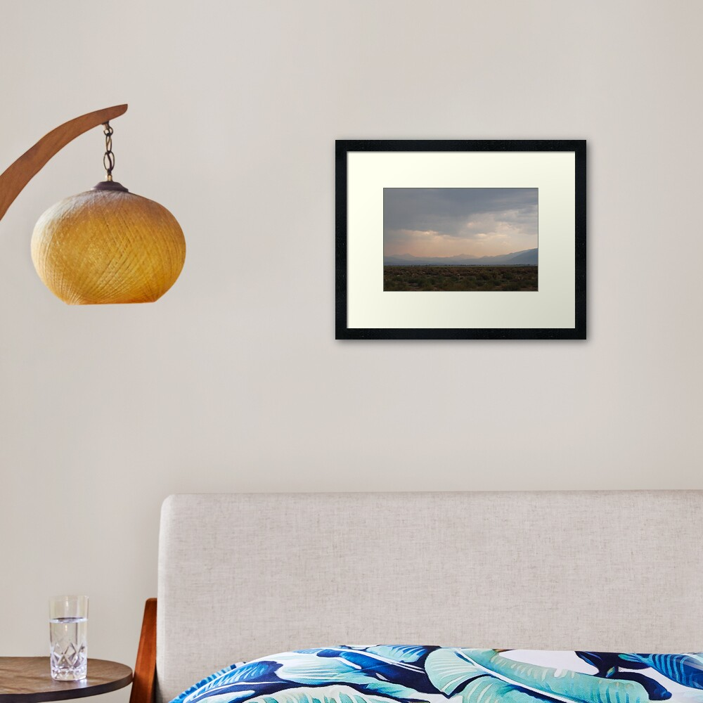 Storm Over the High Desert Framed Art Print