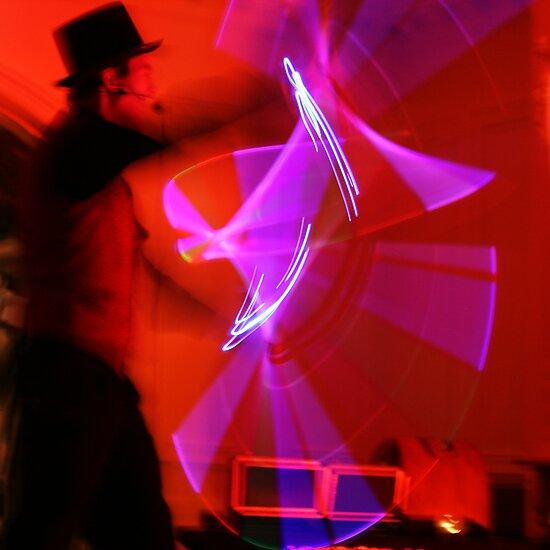 Light Saber, Magic Man, Neon Light Art by Jane McDougall