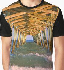 The Pier At Emerald Isle North Carolina Graphic T-Shirt