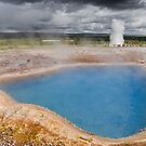 Strokkur Erupts by Peter Clarke