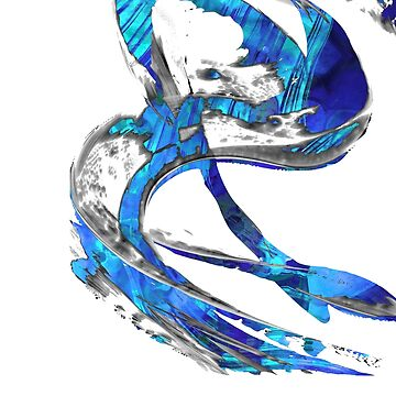 Modern Blue and White Art - Flowing 4 - Sharon Cummings Artist by SharonCummings