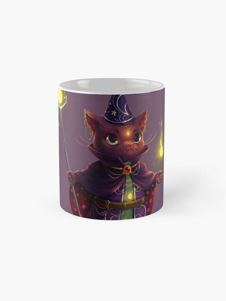 Alternate view of Wizard Cat Mugs