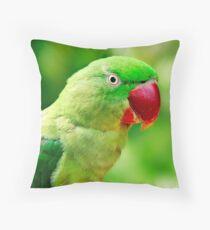 Alexandrine Parrot Throw Pillow