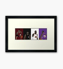 LeBron James Career Framed Print