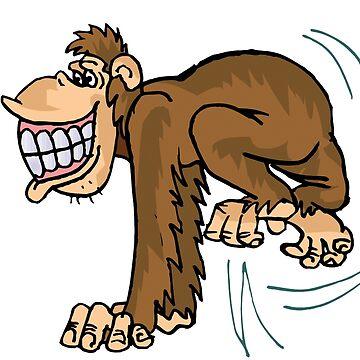 Funny happy monkey by MarinaMontasser