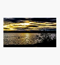 Dark sky with sunset  Photographic Print