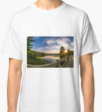sunset looking down river with bridge  Classic T-Shirt