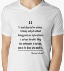 Bertrand Russell famous quote about age V-Neck T-Shirt