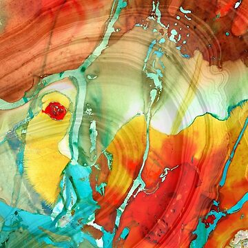 Abstract Art - A Strong Finish - Sharon Cummings Artist by SharonCummings