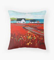 Orange Roof, Barra Throw Pillow