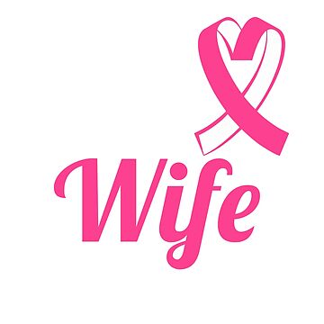 Breast Cancer T-Shirt - For My Wife Pink Ribbon by mikevdv2001