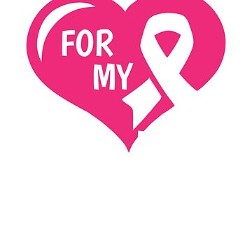 Breast Cancer T-Shirt - For My Sister Pink Ribbon by mikevdv2001