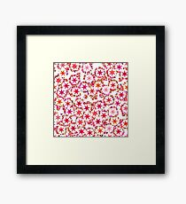 Bright colors background with stars Framed Print