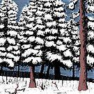 Backyard Snowfall by Jared Manninen