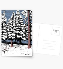 Backyard Snowfall Postcards