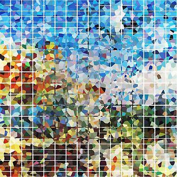 Modern Geometrical Colorful Squares - Art By Sharon Cummings Artist by SharonCummings