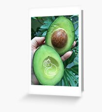 Living in an avocado. Greeting Card