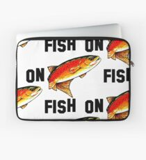 Fish On Yellowstone Cutthroat Trout Fish Fishing Fly Sports Rocky Mountain Man Cave Fisherman Dad Father Gift Ideas Char Laptop Sleeve