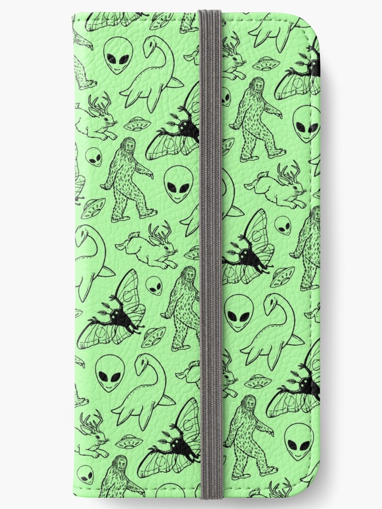 Cryptid Pattern (Green Background) by Diane LeonardArt