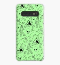 Cryptid Pattern (Green Background) Case/Skin for Samsung Galaxy