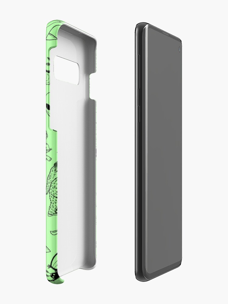Alternate view of Cryptid Pattern (Green Background) Case & Skin for Samsung Galaxy