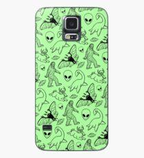 Cryptid-Muster (grüner Hintergrund) Hülle & Klebefolie für Samsung Galaxy