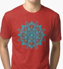 Teal Ribbon Mandala Tri-blend T-Shirt