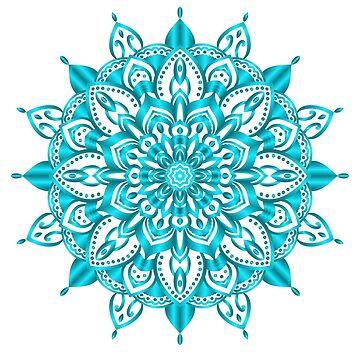 Turquoise Mandala by Mayhill