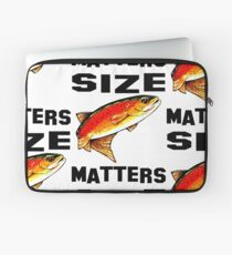 Size Matters Yellowstone Cutthroat Trout Char Fishing Fish Fly Jackie Carpenter Dad Father Husband Sports Rocky Mountain Gift Ideas Laptop Sleeve