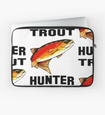 Trout Hunter Yellowstone Cutthroat Trout Char Fish Fishing Fly Gift Idea Father Dad Husband Rocky Mountain Jackie Carpenter Laptop Sleeve
