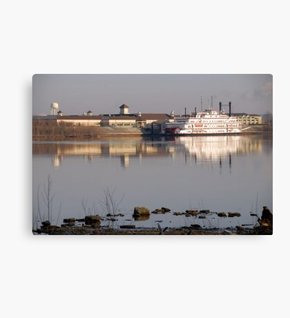 Gambling Boat Canvas Print