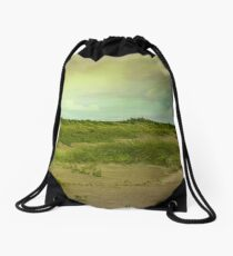 Morning in the Barrier Islands Drawstring Bag