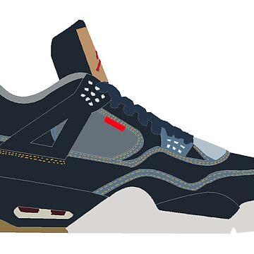Jordan 4 Levi's by danoggie