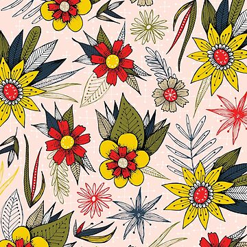 funky vintage floral by swoldham
