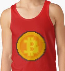 Pixel art Bitcoin coin Tank Top
