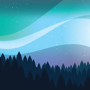 Northern Lights - Vector by Viatorem