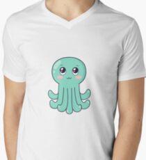 cute baby octopus Men's V-Neck T-Shirt