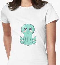 cute baby octopus Women's Fitted T-Shirt