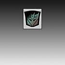 Transformers - Decepticon Rubsign iPhone Case (Fade) by Dave Brogden