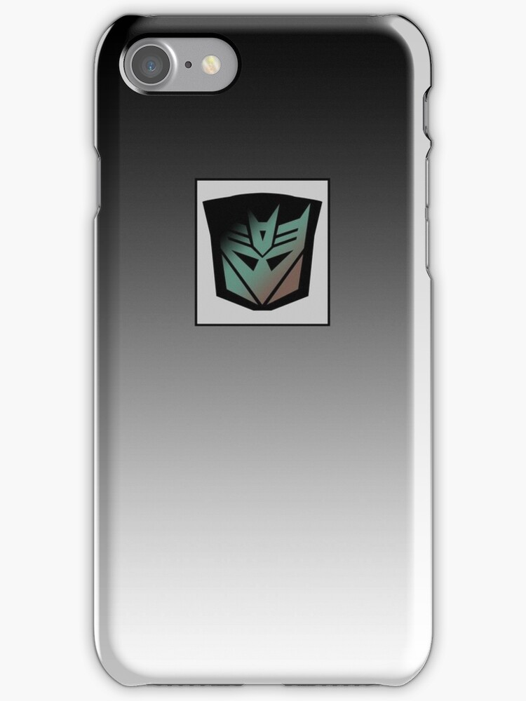 Transformers - Decepticon Rubsign iPhone Case (Fade) by Dave Brogden