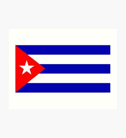 Cuba, national id Art Print