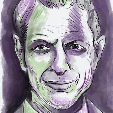 Jeff Goldblum portrait by Extreme-Fantasy
