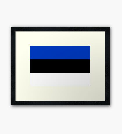 Estonia, national id Framed Print