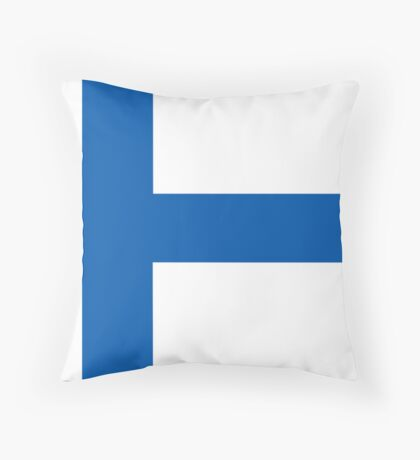 Finland, national id Throw Pillow