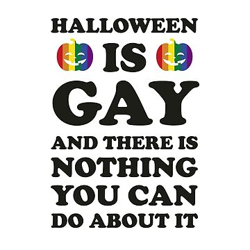 Gay Halloween Costume, LGBT Rainbow Pumpkin by thequeershop