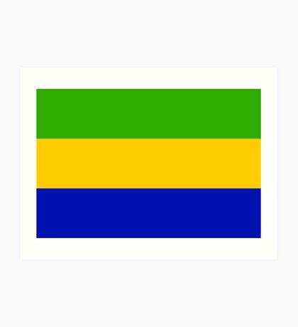 Gabon, national id Art Print