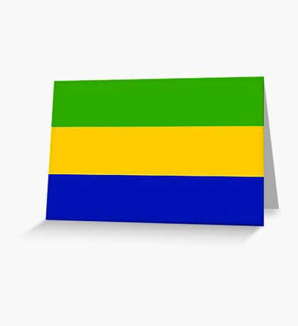 Gabon, national id Greeting Card