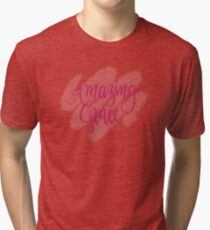 Amazing Grace- handlettered watercolour  Tri-blend T-Shirt
