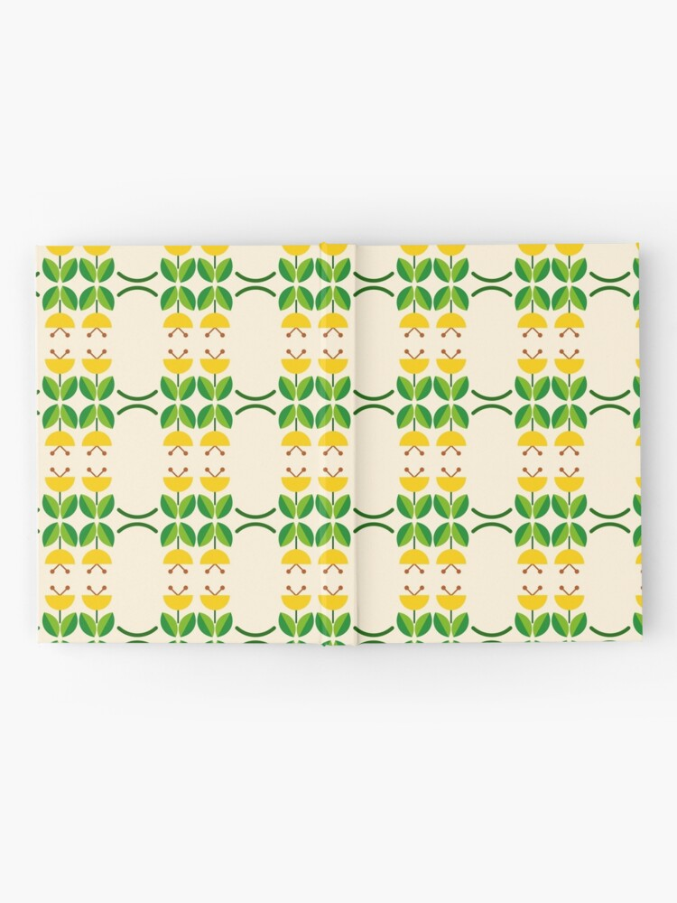 Alternate view of flat design floral beauty seamless colorful repeat pattern Hardcover Journal