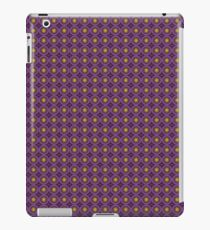 Geometric pattern with purple targets iPad Case/Skin